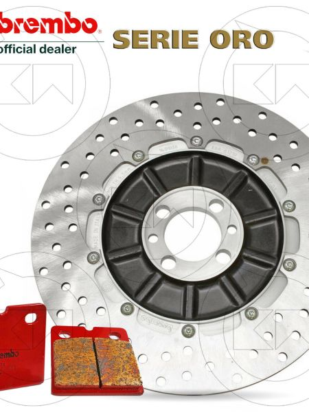 KIT BREMBO DISCO FRENO POSTERIORE + PASTIGLIE BMW K 1100 LT (NO ABS) 1000 1996
