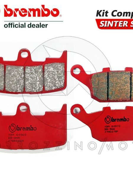 PASTIGLIE FRENO BREMBO ANTERIORE + POST BUELL XB12SS LIGHTNING LONG 1200 2005