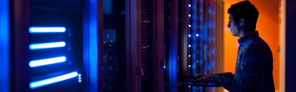data center audit with tech