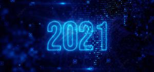 2021 data center market sign with blue outline
