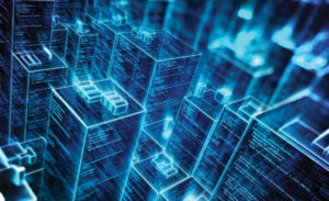 colocation data center buildings abstract