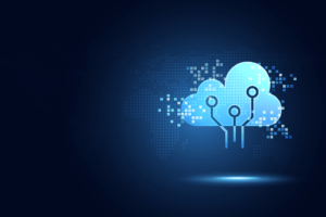 cloud and edge computing illustration