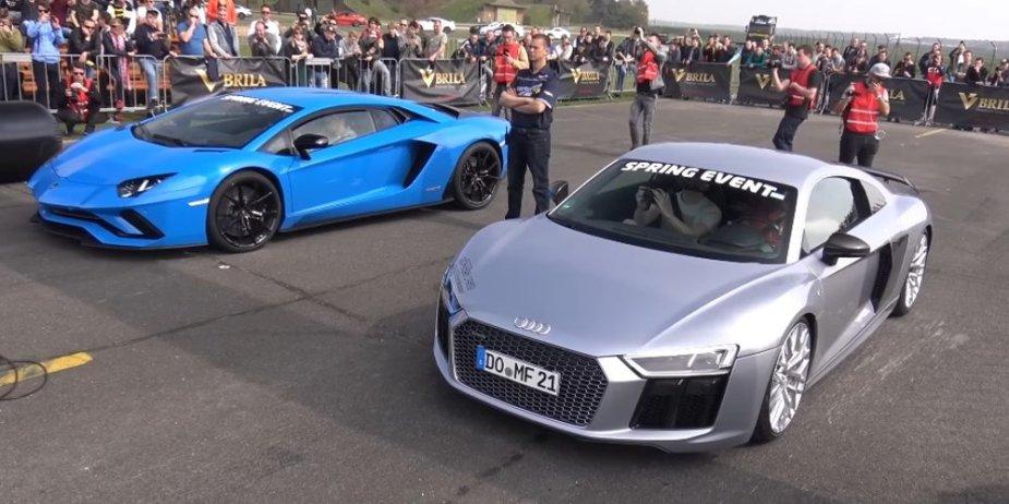 R8 versus Aventador S