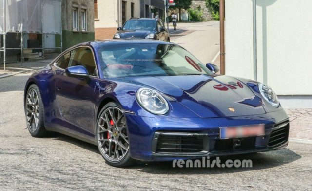 2019 Porsche new 911 992 Spy Photo