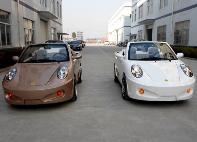 """Chinese-built """"Porsche"""" convertibles."""