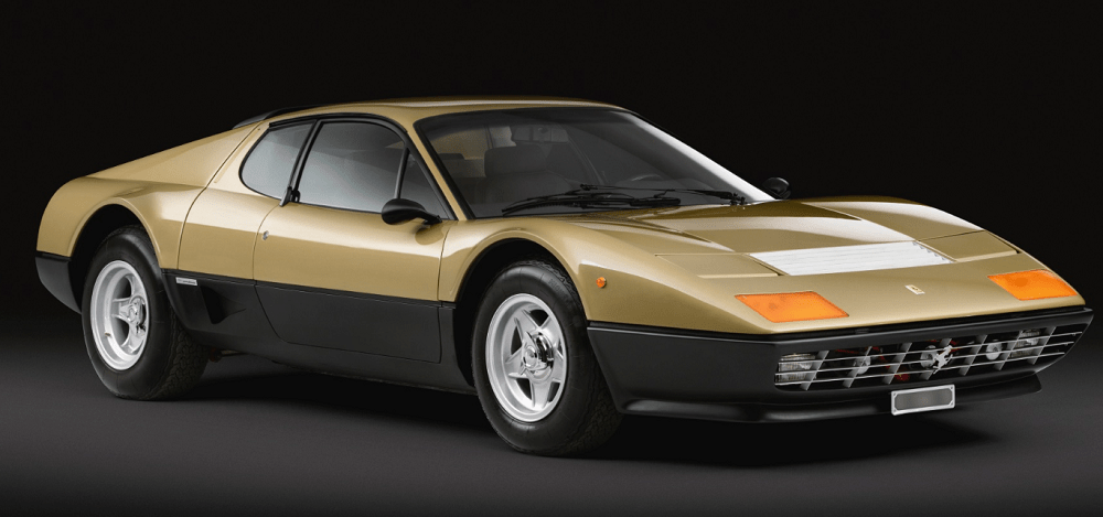 1977 Gold Ferrari 512 BB