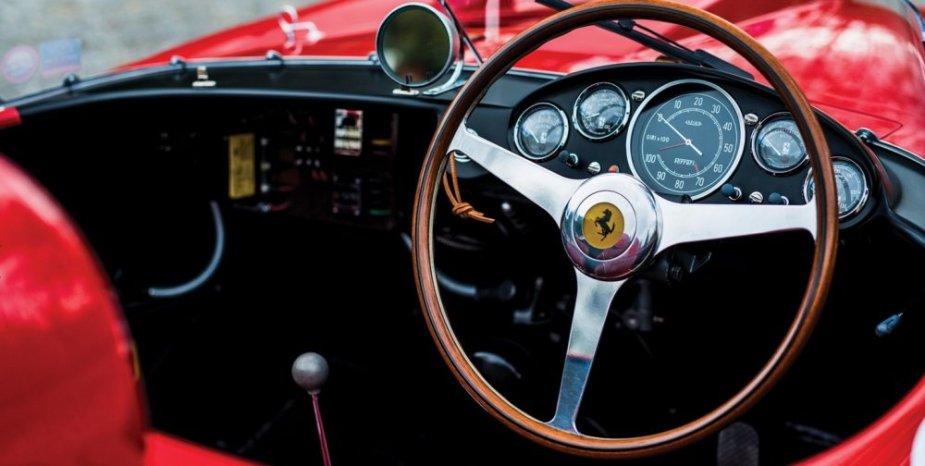 956 Ferrari 290 MM by Scaglietti interior