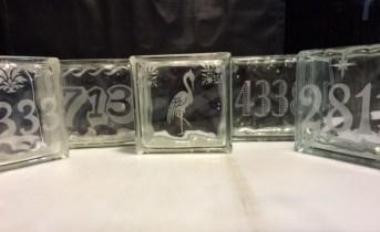 Sand Carved Glass Blocks