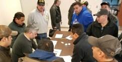 Railway Industrial Services members meet to plan upcoming strike (01.14.17)