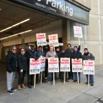 Local 727 Pickets Prime Parking for Unlawful Behavior