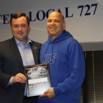 PHOTOS: At Monthly Meeting, Local 727 Membership Invited to Support Navy Pier Strike, Saturday, May 27