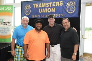 Officers Josh Zivalich, Roly Pina and members of Local 769 at the Labor Lives United Golf Tournament