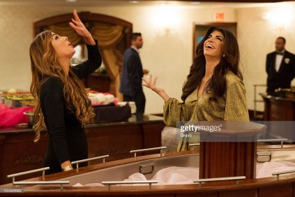 THE REAL HOUSEWIVES OF NEW JERSEY -- Pictured: (l-r) Siggy Flicker, Teresa Giudice -- (Photo by: Greg Endries/Bravo/NBCU Photo Bank)