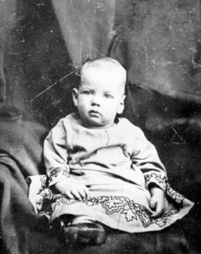 Herbert Hoover as an infant. Difficult to find photos of young Hoover. He was orphaned.