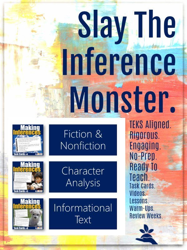 Making Inferences Task Card Bundle 2 |  Slay the STAAR test with Inferencing Task Cards from TeamTom Explore Here  data-recalc-dims=