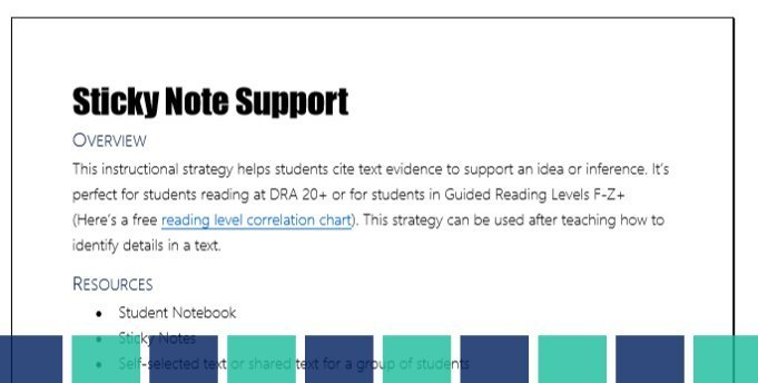 Free Reading Comprehension Strategy Pack