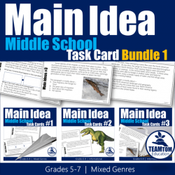 Reading Task Cards for Middle School