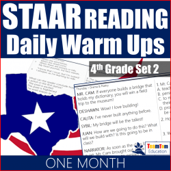 Reading Warm-ups for STAAR Review