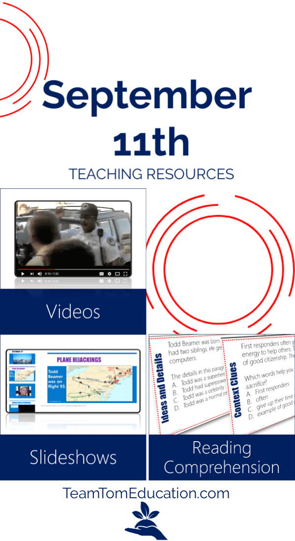 September 11th Teaching Activities. The heroism and loss of that day will never be forgotten. Here are a few resources to help teach it. Videos, slideshows, task cards, and more. #PatriotDay