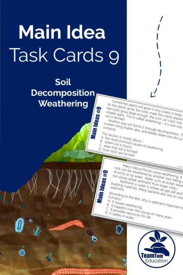 Main Idea Task Cards Google Classroom TeamTom Education