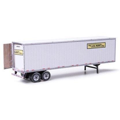 semi-trailer j.b. hunt paper model kit railroad