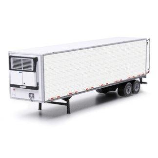semi-trailer white paper model kit railroad