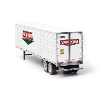 semi-trailer van-kam paper model kit railroad