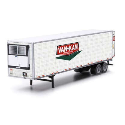 semi-trailer van-kam paper model kit railroad