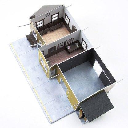 train depot yellow paper model building railroad