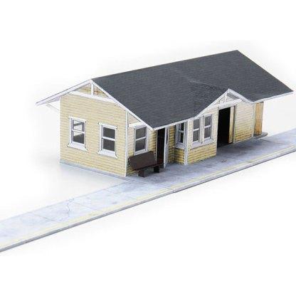train depot wheat paper model building railroad