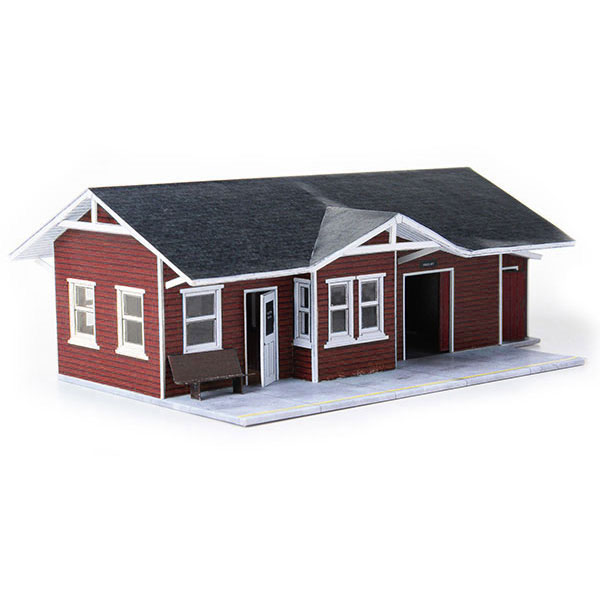 image relating to Free Printable Ho Scale Buildings named Downloadable Paper Design and style Kits for Scale Railroad Structures