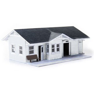 train depot white paper model building railroad