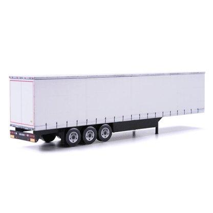 euroliner trailer paper model kit white