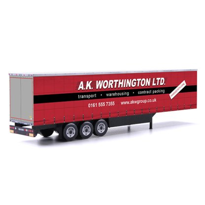 euroliner trailer paper model kit a.k. worthington