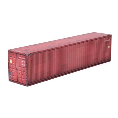 intermodal container rust color paper model kit