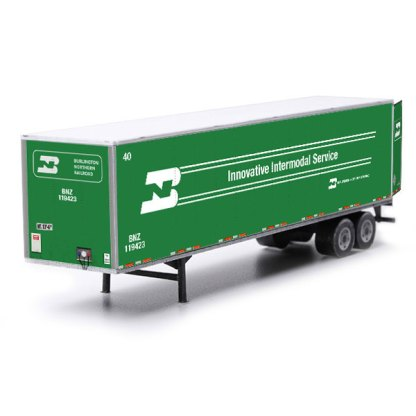 semi-trailer paper model kit burlington northern