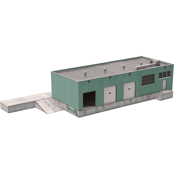 image regarding Free Printable Ho Scale Buildings identified as Downloadable Paper Type Kits for Scale Railroad Constructions