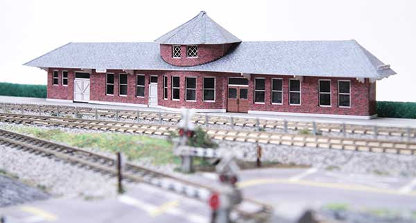 Railroad depot in Eugene made of Paper