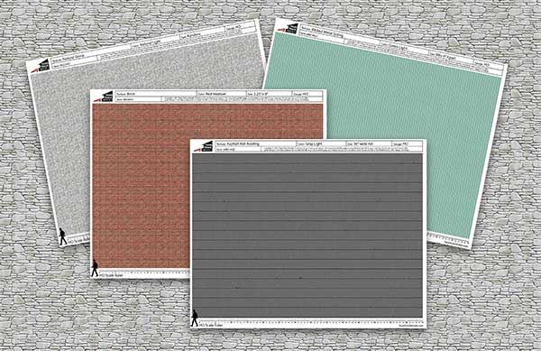 Textures for paper model buildings