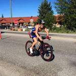 Sharon wins Calgary 70.3 1