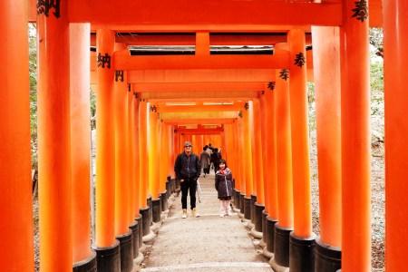 Fushimi Inari with a Kid, Team Uy Travels