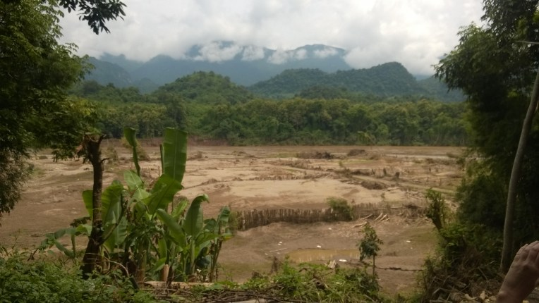 After the flood, a barren wasteland