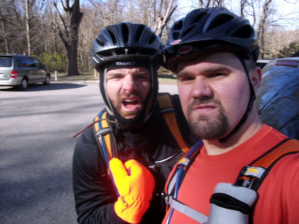 Bob and Luke at Castlewood State Park