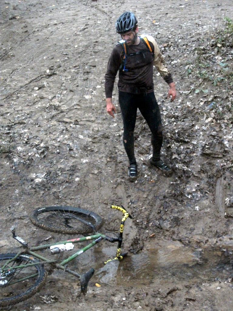 Bob in a muddy creek