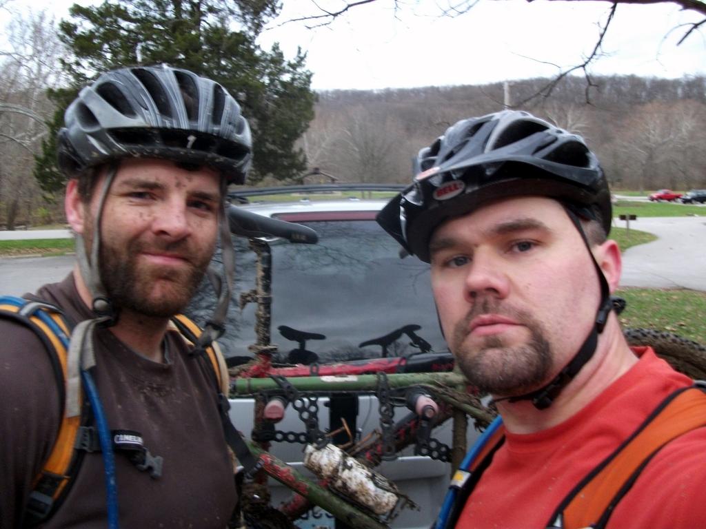 Team Virtus after riding Castlewood
