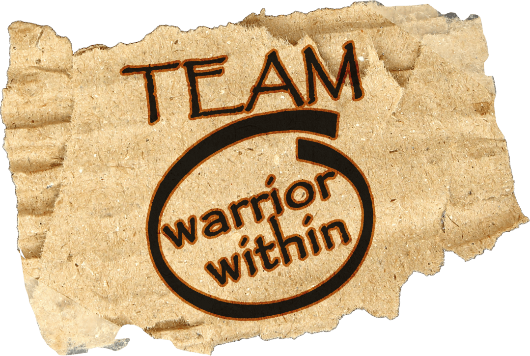 TEAM Warrior Within -Personal Trainers In Columbia MD - Online Coaching - Website Logo on Cardboard