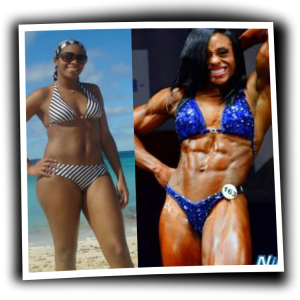 Nicole Moore - Before & After - Muscle Building - Maryland NPC Womens Physique Competitor