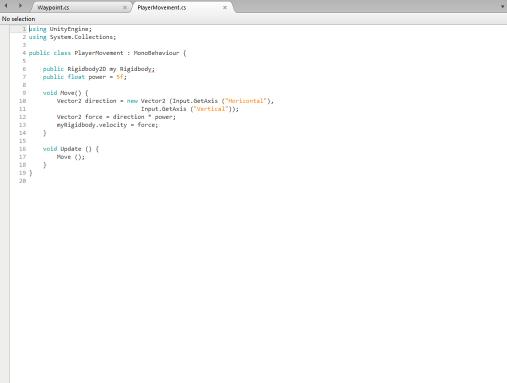 PlayerMovement Script 1