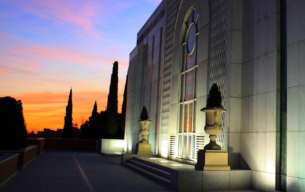La disposición y el templo