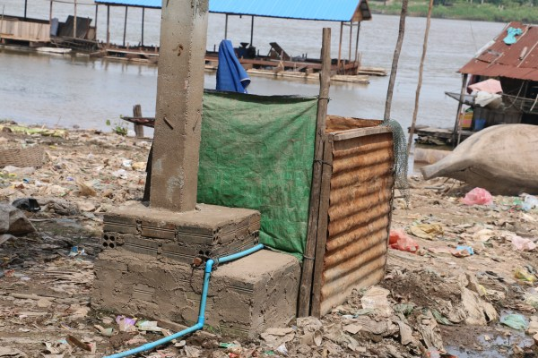 The old toilet which was used by family in village 2, Sangkat Chrang Chrang Chamres I, Khan Russey Keo, Phnom Penh.